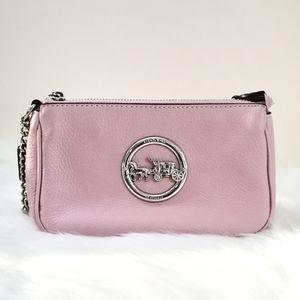 Coach Pink Chain Clutch Bag Shoulder Purse